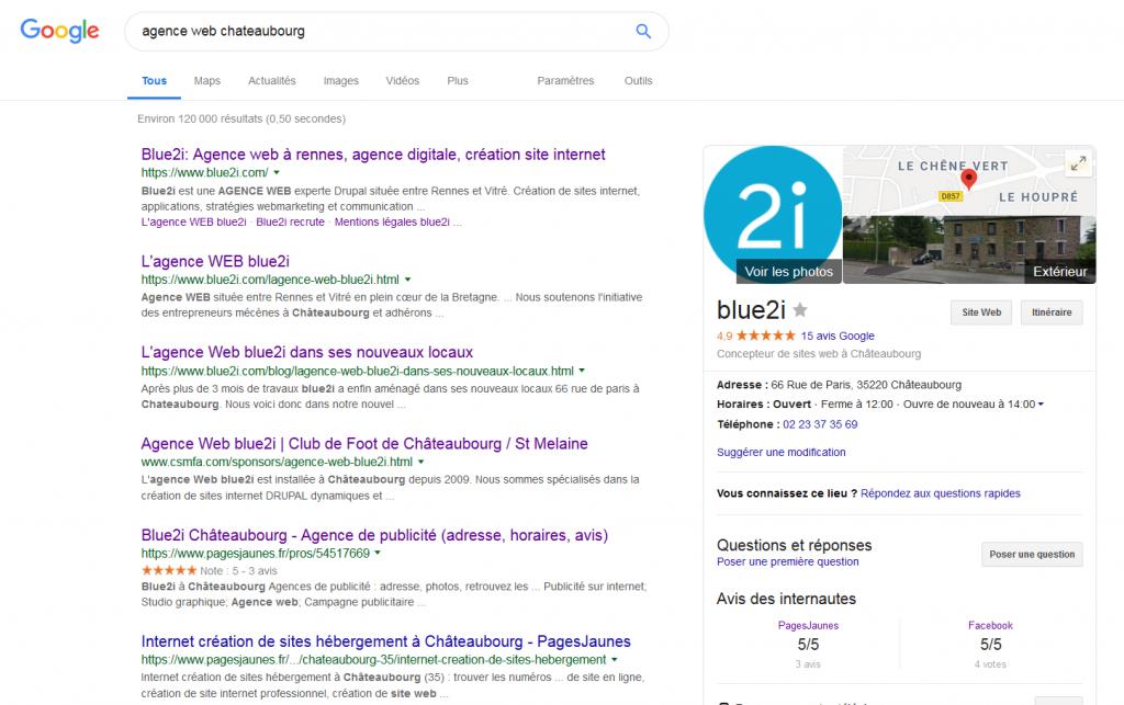 Recherche agence Web Chateaubourg