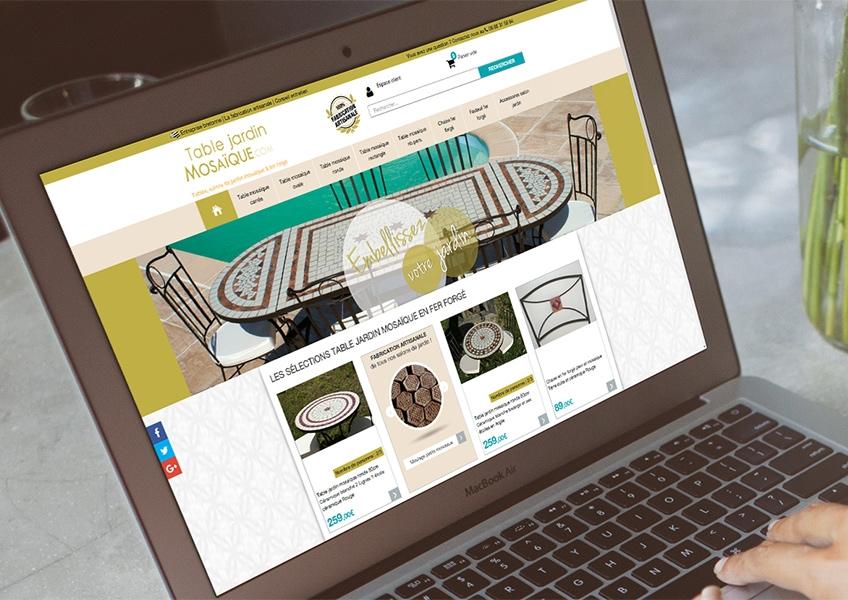 Boutique en ligne de tables jardin mosaïque