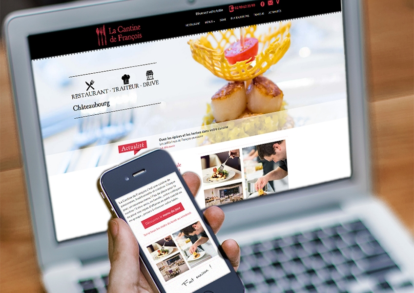 Site internet La Cantine Mobile Friendly