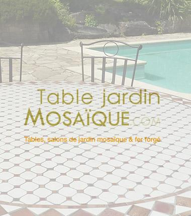 site ecommerce table mosaique jardin